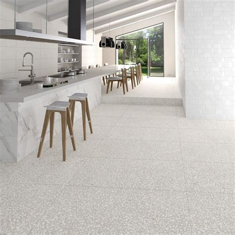 source pure white polished terrazzo flooring material
