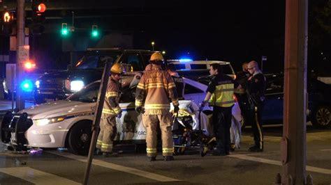 Rcmp Police Car Crash Lougheed Hwy & Coast Meridian Rd