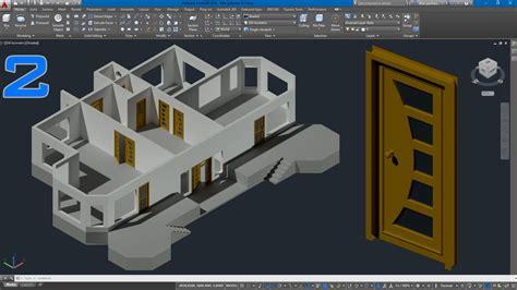 stairs lighting autocad 3d kapı modelleme door modeling