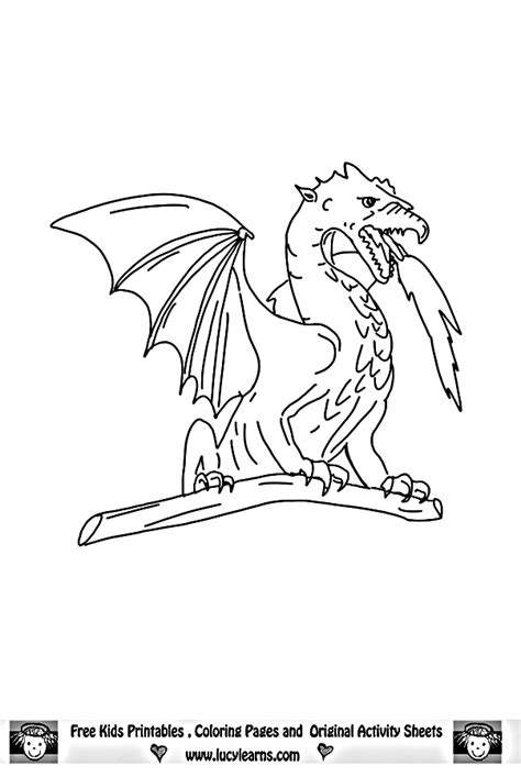 scary dragon coloring pages coloring home