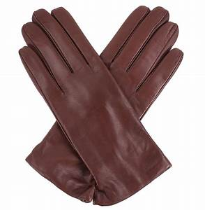 Tom Dick and Harry | Women's Chestnut Brown Leather Gloves ...