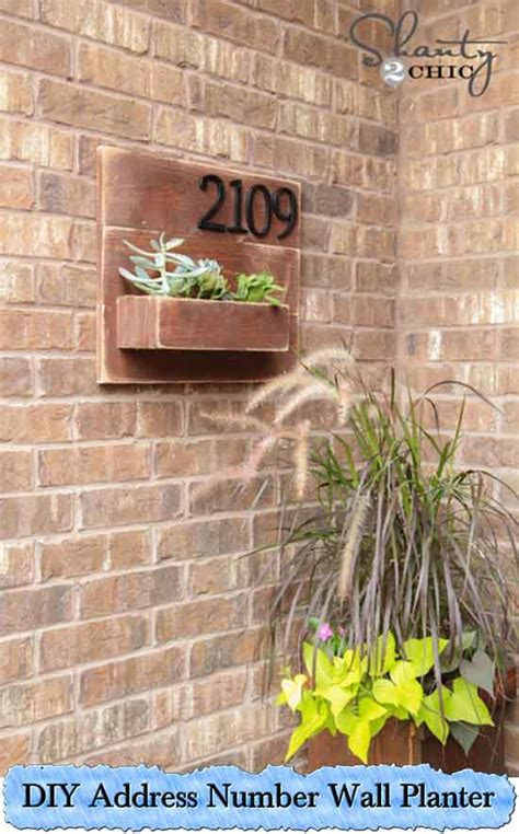 diy address number wall planter lil moo creations