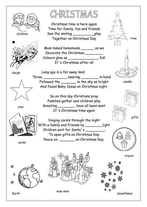 christmas poem interactive worksheet