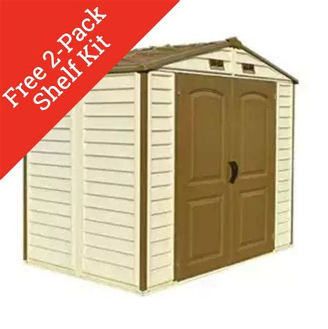 8x6 Plastic Storage Shed by Duramax 30115 Storeall 8x6 Vinyl Storage Shed On Sale