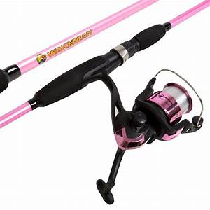 Wakeman Strike Series Spinning Rod and Reel Combo in Hot