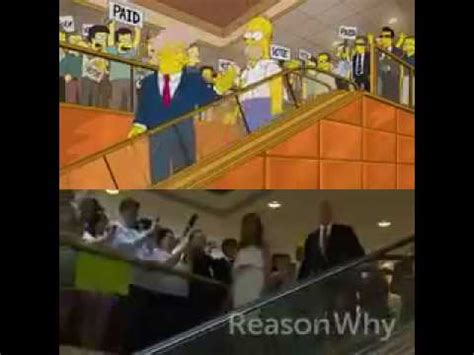 Simpsons Escalator Donald Trump