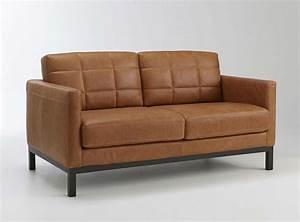 Canapé Vintage Cuir : canap vintage en cuir marron la redoute ~ Teatrodelosmanantiales.com Idées de Décoration