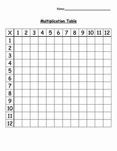 Blank Multiplication Table.pdf | Math | Pinterest