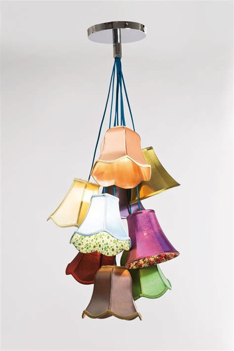 Candle Chandeliers For Cool Ceiling Decorating Ideas Via Homeandgarden 1 by Suspension 9 Abat Jours Multicolore Lights