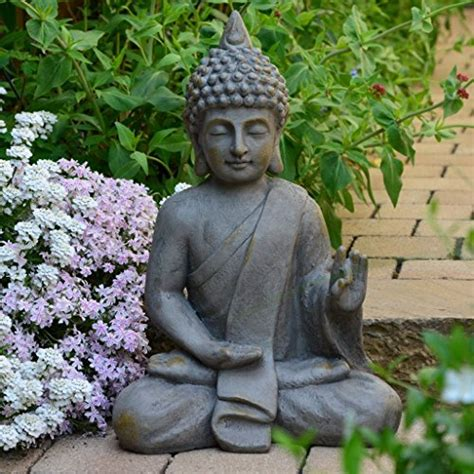 Bouddha De Jardin Solaire by Figura De Buda Para Casa Y Jard 237 N Altura 54cm 187 Mundo