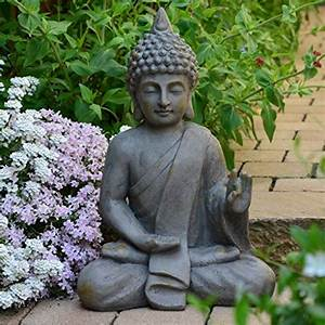 Buddha Figuren Deko : stein buddha antik massiv steinfigur skulptur feng shui garten deko statue ~ Indierocktalk.com Haus und Dekorationen