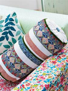 Liberty Print Bolster Cushion - Free Sewing Patterns