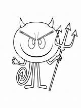 Devil Coloring Pages Printable Mycoloring sketch template