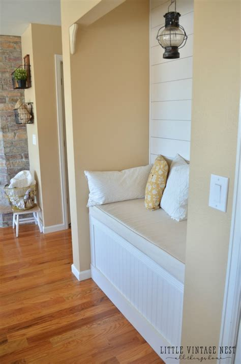 diy reading nook  planked walls