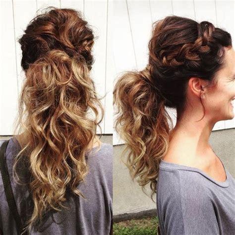 pretty french braid ponytail ideas