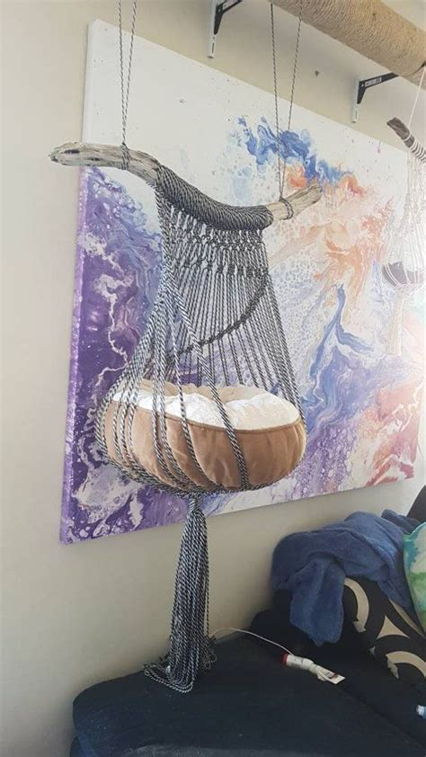 Crochet Cat Hammock by Macrame Cat Hammock Macrame Tutorial Macrame Cat