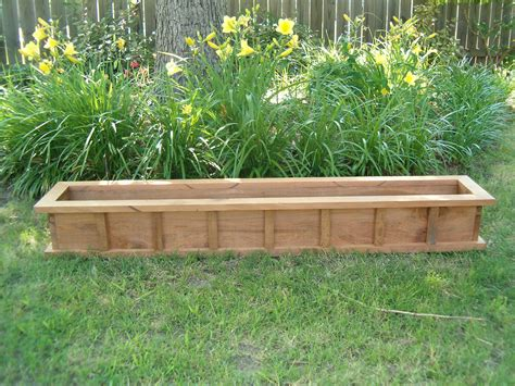 42 window box cypress wooden planter flower new wood