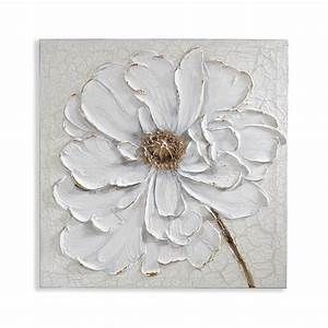 Plaster Floral Canvas - Arthouse