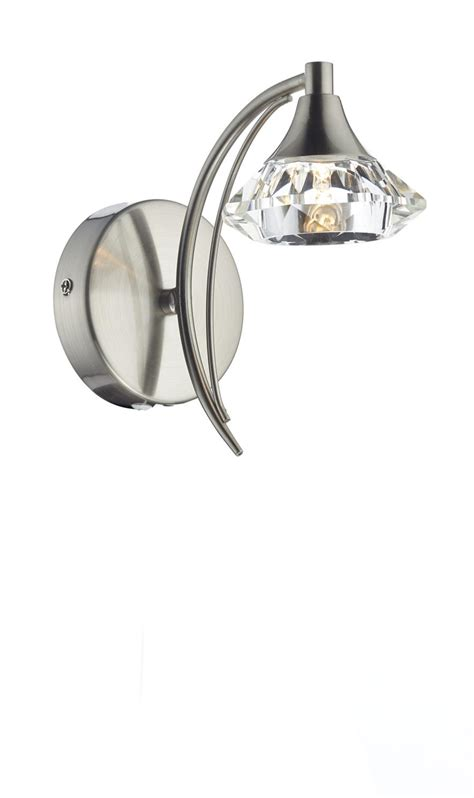 lut0746 luther single wall light in satin chrome