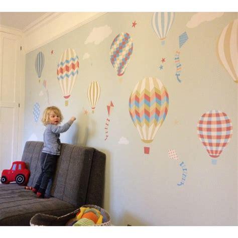 hot air balloon kites wall stickers