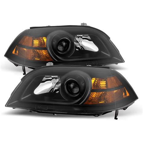 Acura Mdx Headlights 2004 2006 acura mdx replacement projector headlights black