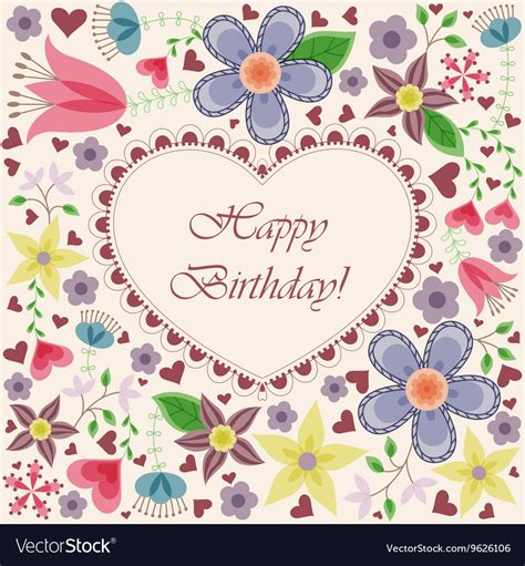 happy birthday flowers card images happy birthday images