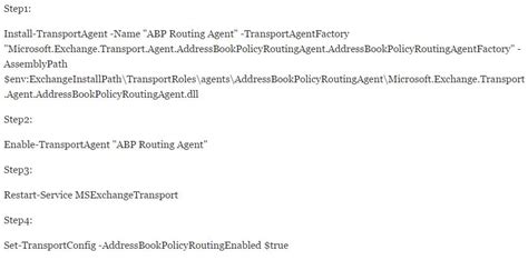 Address Book Policy Routing Agent