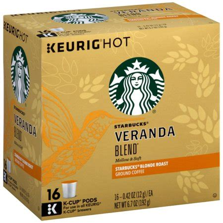 Enjoy the starbucks coffee you love without leaving your home or office. Starbucks® Veranda Blend® Blonde Roast Ground Coffee K-Cup® Pods 16 ct Box - Walmart.com