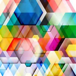 abstract colorful triangle pattern background vector
