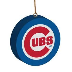 chicago cubs 3d logo ornament