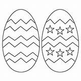 Easter Egg Coloring Printable Colouring sketch template
