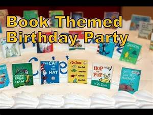 Book Themed Birthday Party - YouTube