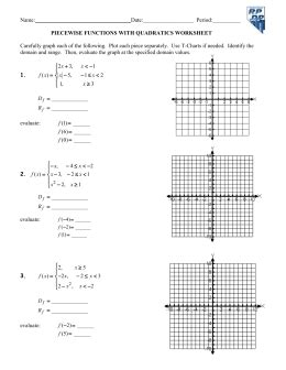 Piecewise Functions Worksheet With Answers Calleveryonedaveday