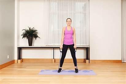 Resistance Band Exercises Squat Using Strength Balance