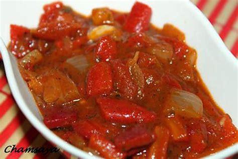 recette de salade chaude de poivrons rouges et tomates