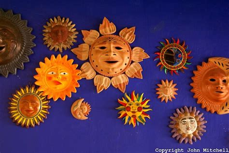 mexican ceramic suns estilo mexicano pinterest
