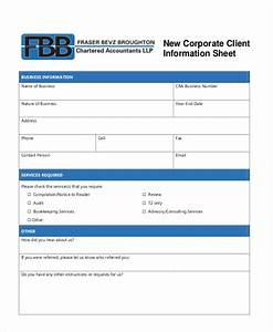 8 client information sheet templates free samples With client information form template free download