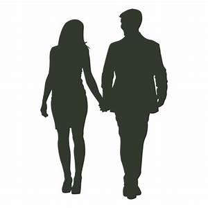 Couple walking silhouette formal - Transparent PNG & SVG ...