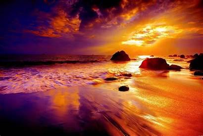 Sunset Beach Wallpapers Desktop Backgrounds Purple Natur