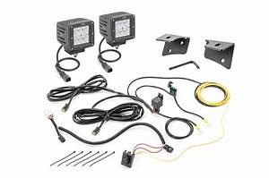Quadratec 3 U0026quot  Cube Led With Wiring Harness  Windshield Mounting Brackets  U0026 Daystar Switch Pillar