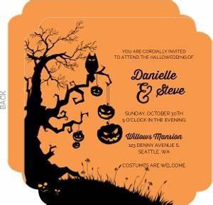 rustic pumpkin and leaves wedding invitation halloween With scary halloween wedding invitations