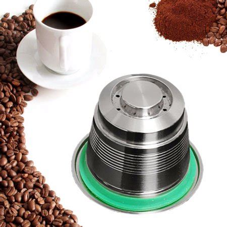Get it as soon as mon, apr 12. Stainless Steel Coffee Capsule Pod Cup Reusable Refillable For Nespresso Machine | Walmart Canada