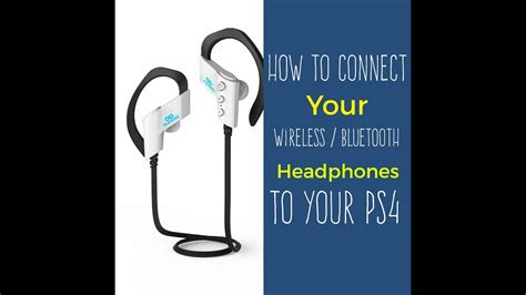 how to connect any wireless bluetooth headset to your ps4 youtube