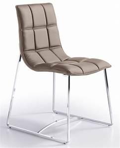 Chaise Capitonnée Taupe : chaise design matelass e simili taupe koza ~ Teatrodelosmanantiales.com Idées de Décoration