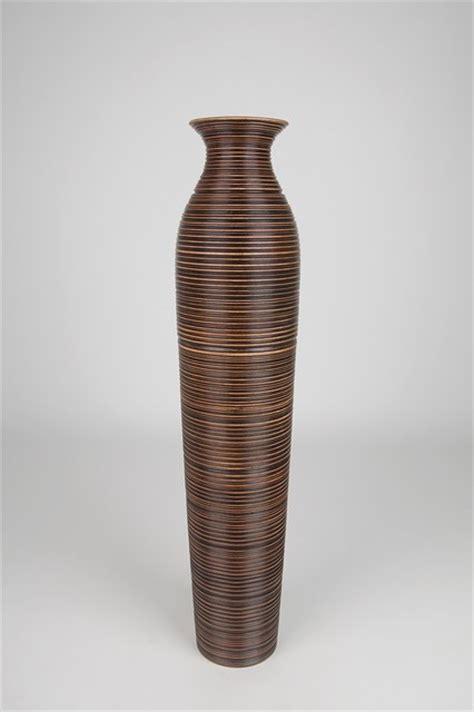 decorative floor vases decorative floor vase wood height 90cm vases