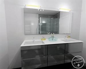 simple pin en promotion meuble salle de bain coloris gris With salle de bain design avec castorama salle de bain promotion