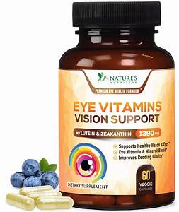 Nature U0026 39 S Nutrition Eye Vitamins With Lutein And Zeaxanthin  60 Ct