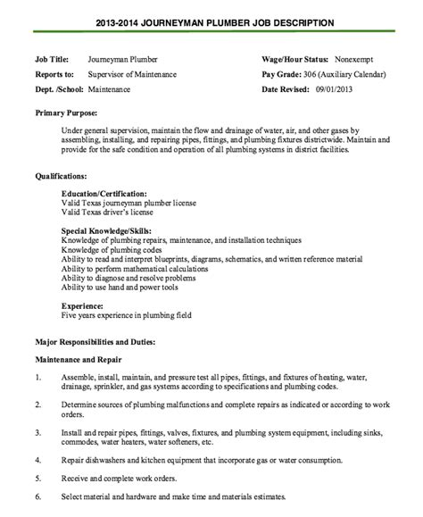 journeyman plumber resume template 28 images best