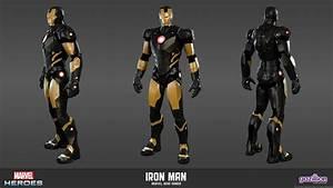 Black and Gold Iron Man armor