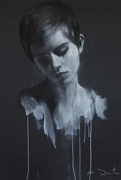 Melancholic Paintings Drawings Mark Demsteader Bleaq